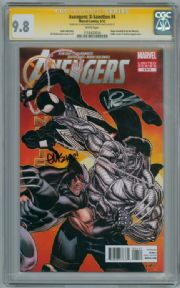 Avengers X-Sanction #4 CGC 9.8 Signature Series Signed McGuiness Vines Spider-man Black Costume
